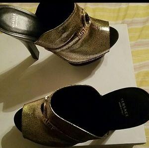 Versace clogs heels